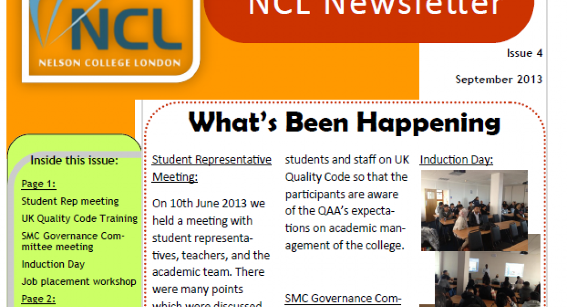 Newsletter September 2013